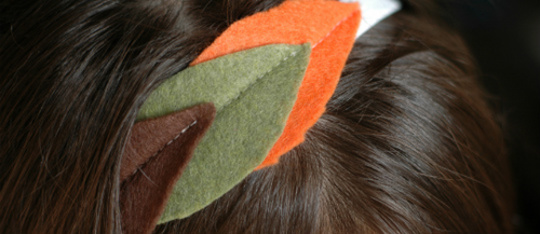 How to Make a Fall Leaf Headband