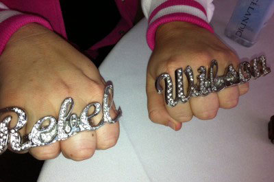 Rebel's crazy bling!