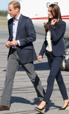 Kate's favorite man and her favorite espadrilles, blazer and J Brand skinny jeans