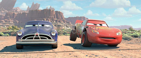 Doc Hudson and Lightening McQueen