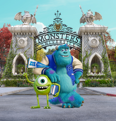 Mike and Sulley at Monsters University