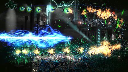 Insane particle effects are a constant in Resogun.
