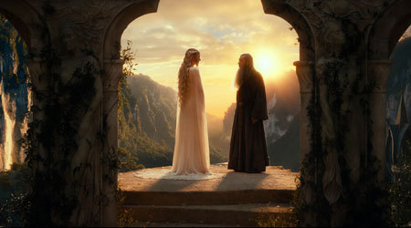 Lady Galadriel and Gandalf