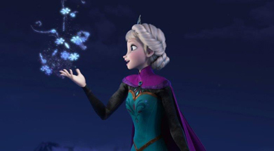 Elsa in an elaborate hairstyle