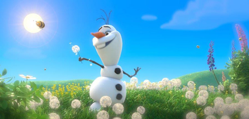 Happy Olaf dreams of Spring