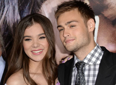 Hailee and Douglas Booth at a premiere