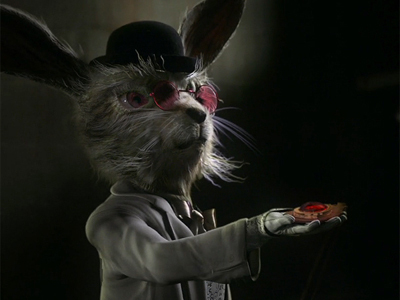 The strange white rabbit