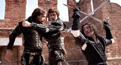 Douglas in a fight with Tybalt (Gossip Girl's Ed Westwick)