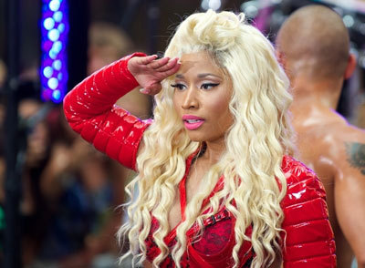 Nicki on stage