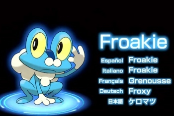 Pokémon X and Y Froakie starter