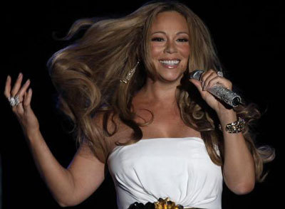 Mariah doing her thing