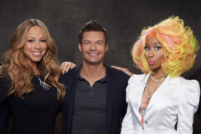 The girls with host Ryan Seacrest