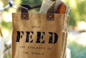 Donations from a FEED bag purchase help relieve hunger