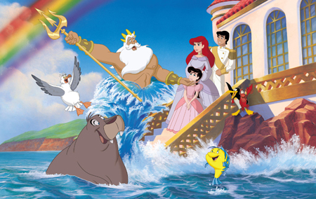 King Triton, Ariel, Eric, Melody, Tip, Dash, Flounder, Sebastian and Scuttle!