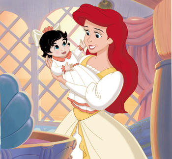 Ariel with daughter Melody