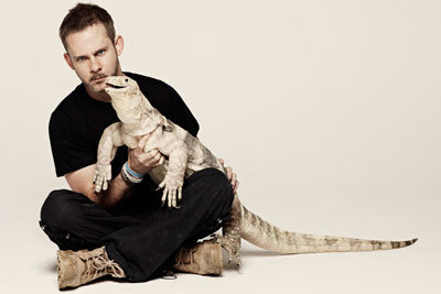 Dom with a really big lizard