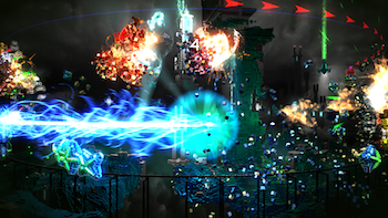 Resogun, free for PS Plus members.