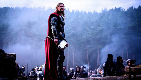 Thor after a battle