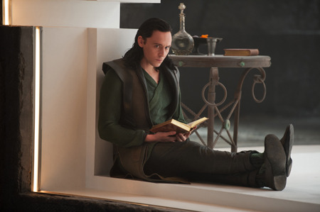 Loki in his posh prison cell