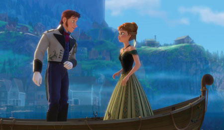 Anna with handsome prince Hans