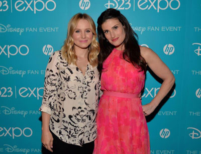 Kristen with Idina Menzel at Disney Expo event