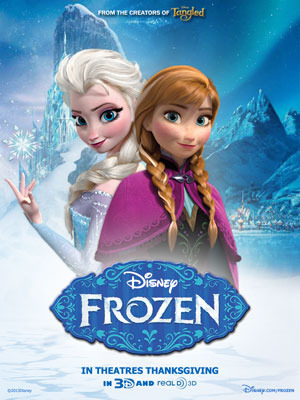 Forzen Poster featuring Anna and Elsa