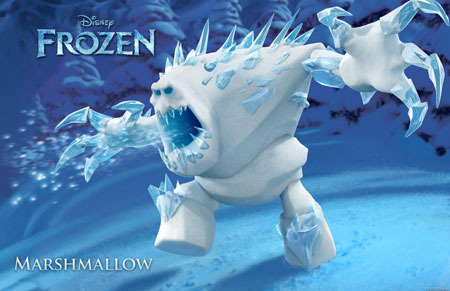 Frozen guard monster