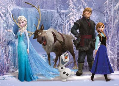 Elsa, Sven, Olaf, Kristoff and Anna