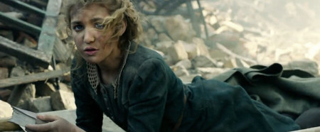 Liesel finds a book in bomb rubble