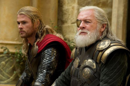 Thor with father Odin (Anthony Hopkins)