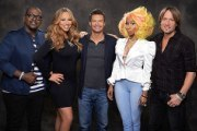Ryan Seacrest with the Season 12 Judges