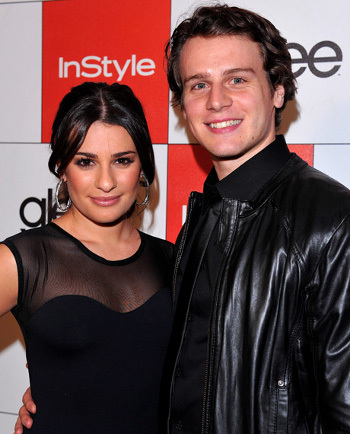Lea Michele and Jonathon Groff