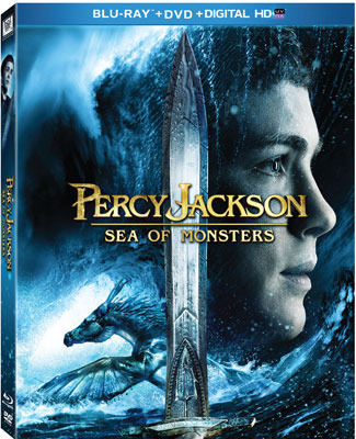 Percy Jackson: Sea of Monsters Blu-ray and DVD Cover Art