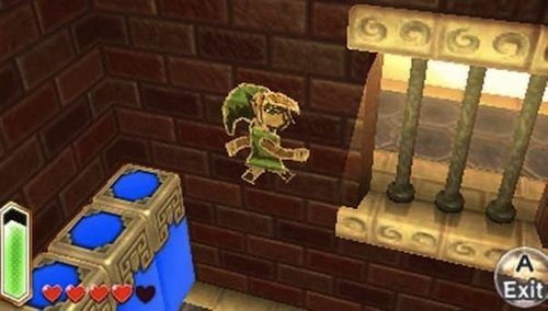 Slip through tight spaces by turning Link into a painting.