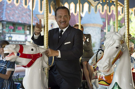 Tom, as Walt Disney, rides the Fantasyland carousel
