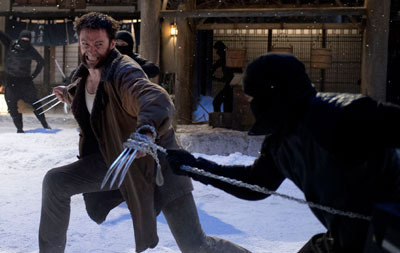 Logan battles ninja warriors