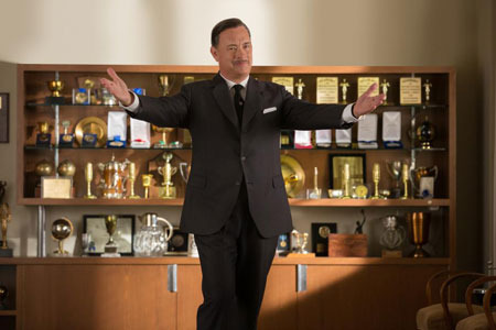Tom Hanks as Walt Disney welcomes Mrs. Travers