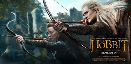 Tauriel and Legolas (Orlando Bloom)