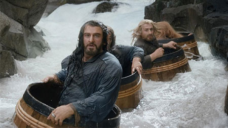 Thorin (Richard) in his barrel