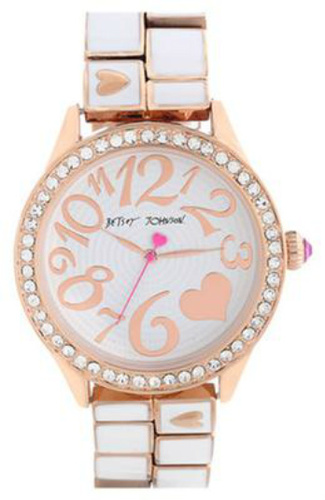 Betsy Johnson Round Bracelet Watch