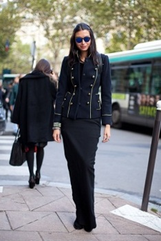 Paris Fashion Week 2013: Military cut jackets are everywhere from street to runway.