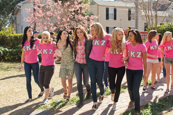 Miley with sorority sisters