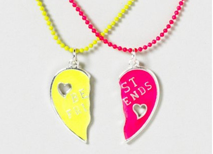 Best Friends Heart necklace, $7