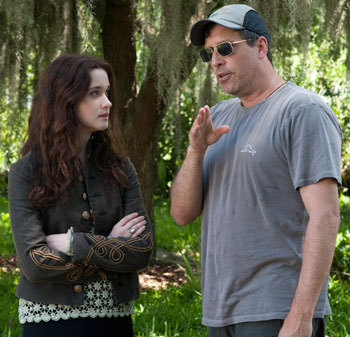 Alice on set with her director Richard LaGravenese