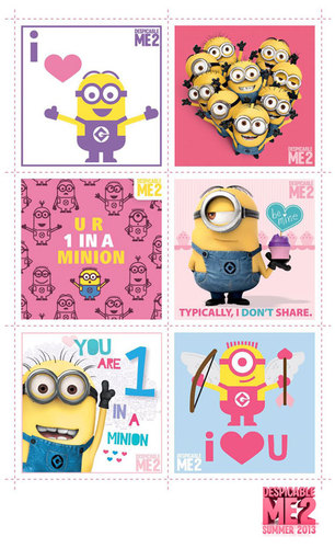 Despicable Me 2 Valentine's Day Cards
