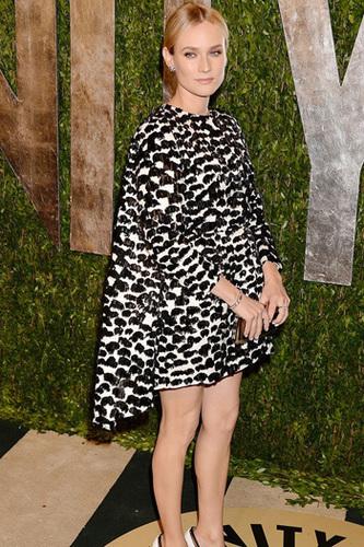 Diane Krueger in a triangle dress