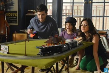 Eza, Malcolm and Aria Playing Trains