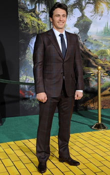 James at the Oz premiere