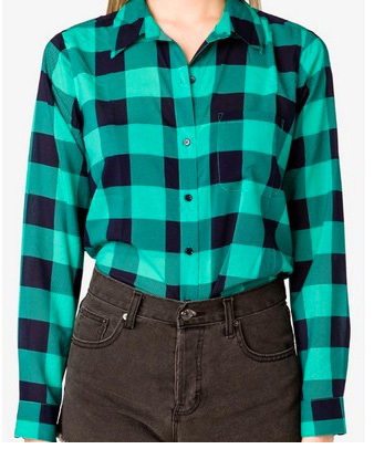 Forever 21 green plaid shirt, $19.80
