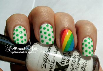 Easy polka dot nail  art